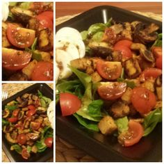 #feldsalat #beste #tofu #pilze #tomaten #selfmade #food