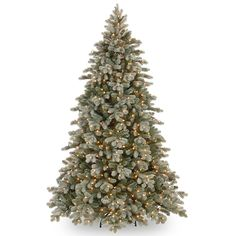 National Tree Company 7.5' Frosted Colorado Spruce Pre-Lit Christmas Tree With Clear Lights