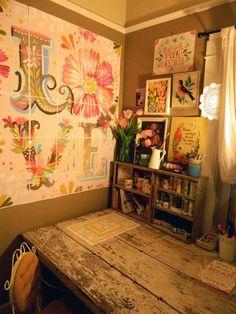 Studio of Katie Daisy, from The Wheatfield on Etsy :)