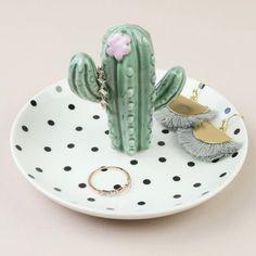 Polka Dot Cactus Jewellery Dish Fimo Cactus Dish Dot Fimo Jewellery Polka - fix. Jewelry Dish, Jewellery Storage, Clay Jewelry, Diy Jewellery, Clay Art Projects, Clay Crafts, Fimo Cactus, Ceramic Pottery, Ceramic Art