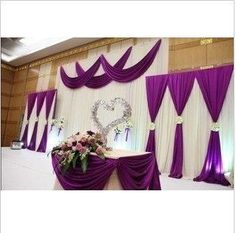 Toprated wedding backdrop curtain  wedding by MyWeddingSupplies, $108.90  *** I like this but of course in the dark plum color, not purple with gold accents, and my colors***