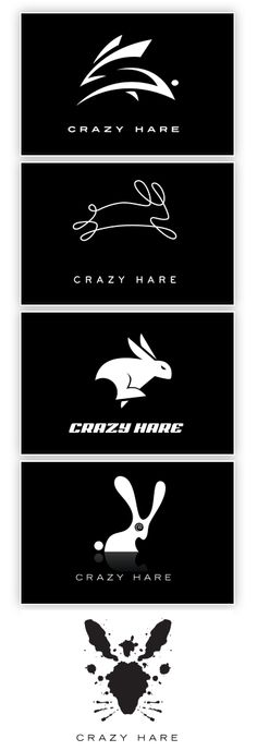 Crazy Hare logo ideas by Mattson Creative