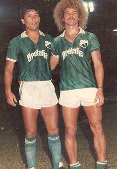 Jorge Aravena - Deportivo Cali Pure Football, Football Tops, Football Design, Retro Football, World Football, Vintage Football, Football Soccer, Carlos Valderrama, Cali Colombia