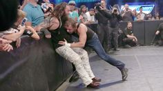 These 2 old enemies hurl each other around ringside!