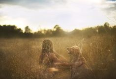 """""""Golden hours – Relationship between Jessica and her dog"""" A perfect spot for a Photo by  Jessica Trinh"""
