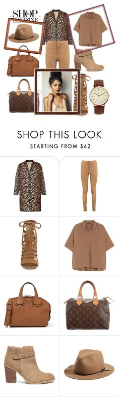 """""""leopard"""" by antonellagalli ❤ liked on Polyvore featuring Ganni, Boohoo, Sam Edelman, Donna Karan, Givenchy, Louis Vuitton, Sole Society, rag & bone and BKE"""