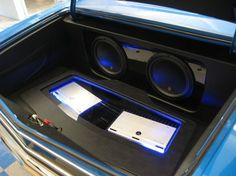 1967 chevelle trunk car stereo install jl audio subwoofers and amps