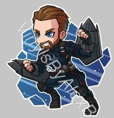 Marvel Drawing FA Captain America by - Chibi Marvel, Marvel Art, Marvel Dc Comics, Marvel Heroes, Marvel Avengers, Avengers Cartoon, Marvel Cartoons, Chibi Characters, Marvel Characters