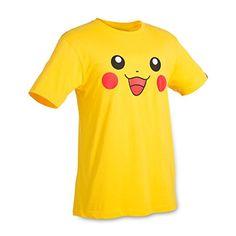 Pikachu Big Face Relaxed Fit Crewneck T-Shirt