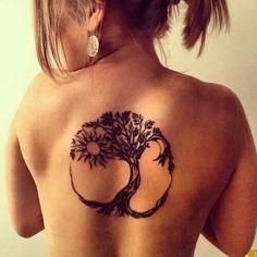 I like the way it creates a circle around the tree
