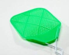 fly swatter and wiffle ball hockey--this could be super hilarious/fun
