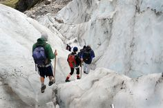 Fox-jäätikkö Uuden-Seelannin Eteläsaarella, länsirannikolla  http://www.exploras.net