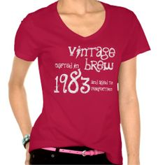 30th Birthday Gift 1983 Vintage Brew Tshirt