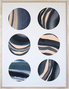 """""""Fulls Moons of Laguna"""" by Jennifer Ament, $595, 19"""" x 24"""", available at #serenaandlily. #artcollection"""