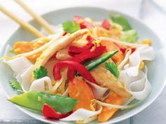 Tasty Thai chicken and noodles