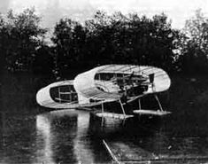 Louis Bleriot would eventually build a plane that would be the first to successfully cross the English Channel (with himself at the controls), but this early powered glider, built to his specifications by Gabriel Voisin, would never make it off the surface of the Seine River where it was being tested.