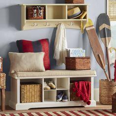 Alcott Hill Bel Air 8 Hook Storage Shelf & Reviews | Wayfair