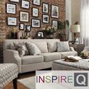 Inspire Q Ellyson Light Grey Fabric Sloped Track Arm Sofa | Overstock.com Shopping - The Best Deals on Sofas & Loveseats