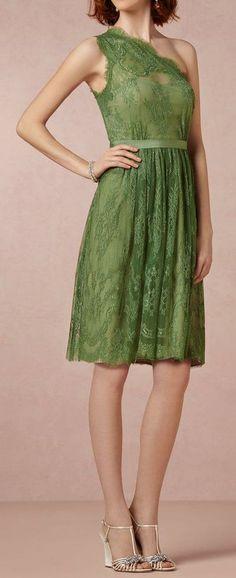 Moss Green Lace Dress