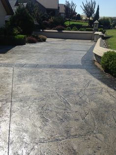 Stamped Concrete is the process of adding texture and color to concrete. This process makes ordinary concrete to resemble stone, brick, slate, cobblestone and much more. There are endless possibilities with Stamped Concrete! Stained Concrete Driveway, Concrete Porch, Concrete Driveways, Walkways, Stamped Concrete Walkway, Stamped Concrete Colors, Colored Concrete Patio, Concrete Stamping, Concrete Stain Colors