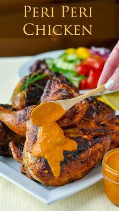 No Nando's near you? No problem this version is even better. Peri Peri Sauce should be garlicy spicy lemony tangy and utterly addictive. This bright fresh fully-flavoured version hits all the right notes. Perfect as a marinade and slather on grilled Sauce Recipes, Cooking Recipes, Healthy Recipes, Grilling Recipes, Portugese Chicken, Rock Recipes, Water Recipes, Marinade Sauce, Portuguese Recipes