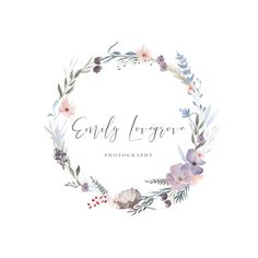 A personal favorite from my Etsy shop https://www.etsy.com/listing/513221981/watercolor-flower-logo-premade