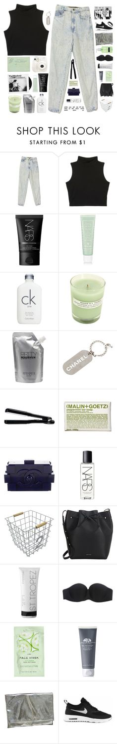 """""""LIKE I'M SET ON FIRE   COLLAB W/ ADDY"""" by celhestial ❤ liked on Polyvore featuring Fuji, NARS Cosmetics, Sisley, Calvin Klein, A.P.C., Prtty Peaushun, Chanel, T3, (MALIN+GOETZ) and Circo"""