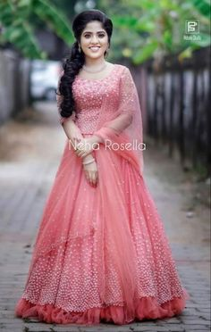 Gown Party Wear, Party Wear Indian Dresses, Indian Gowns Dresses, Indian Wedding Outfits, Bridal Outfits, Wedding Attire, Wedding Bride, Christian Bridal Saree, Christian Weddings