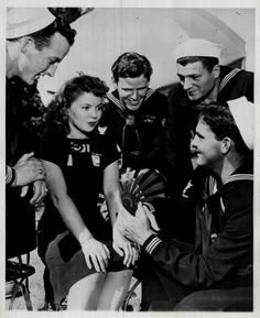 Shirley Temple entertaining servicemen in WWII.
