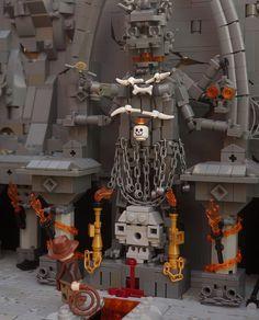 (Indiana Jones and the Temple of Doom) Lego Minifigure Display, Lego Age, Lego Indiana Jones, Lego Creative, Kali Ma, Lego Pictures, Amazing Lego Creations, Lego Craft, Lego Military