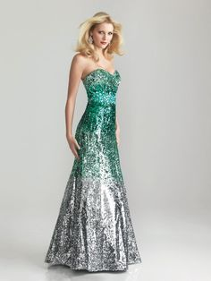 Night Moves 6648 in green for Prom 2013 #formalapproach