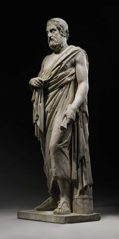 Roman marble statue of Sophocles, 1st-2nd century AD