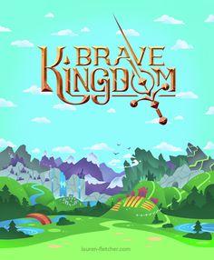 Brave Kingdom Background By Lauren Fletcher Logo Design I Digital Art I 2D I Video Game Assets I Graphics I Landscape