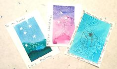 Starry Night Art Cards - With writing