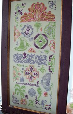 Quaker Gone Tropic - by Michelle Ink Needlework Designs