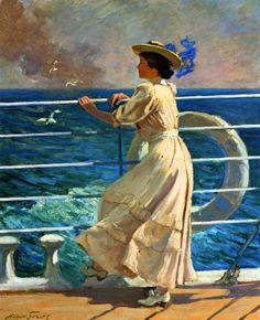 Abbott Fuller Graves - On The Deck @@@.....https://es.pinterest.com/essientes/travel-transport-in-art/