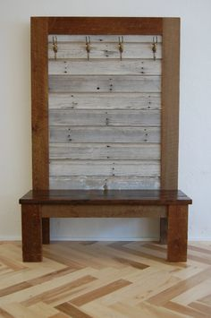 Barn Wood Bench. $850.00, via Etsy.