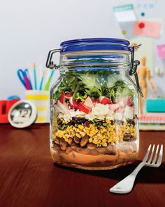Salad in a jar - so clever!