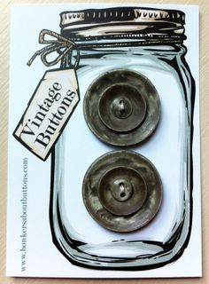 Vintage Carded set of 2 Large Art Deco GUN by bonkersaboutbuttons, £3.50