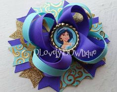 Disney Princesses Inspired Boutique Stacked by DLovelyBOWtique
