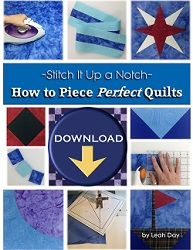 How to Piece Perfect Quilts is an ebook and video collection that covers all the basics to quilt piecing from preparing your fabric, to cutting, to piecing the shapes together so all the seams match perfectly every time.