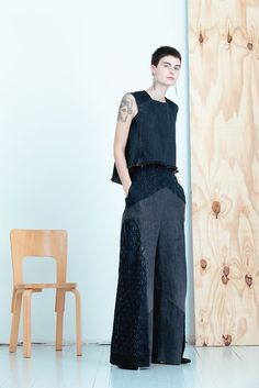 MEM SAMURAI Waido housut | Weecos The most ecological clothing collection in the world comes from Helsinki Finland, and it is made from old denim jeans. MEM Samurai by Paula Malleus. View the full lookbook at Weecos. Eco fashion sustainable upcycle recycled clothes