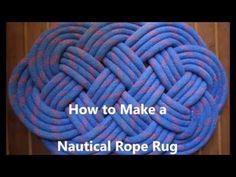 Knot of the Week: How To Tie an Ocean Plait Mat - YouTube