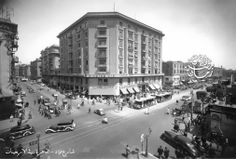 Beautiful photo de Fouad Street (currently Badge July 26) - Cairo in forties of the twentieth century.