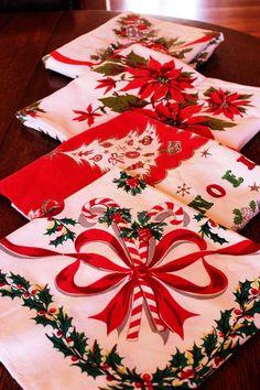 Vintage Christmas Tablecloths
