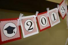 Graduation banner Collegiate banner you by Bebopsandlemondrops, $26.00