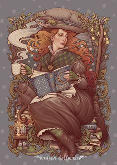 Nouveau folk witch by Medusa-Dollmaker