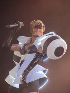 Rihanna seen performing at the SECC in Glasgow, Scotland