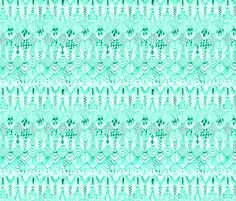 Feather Rows in Vivid Mint fabric by thistleandfox on Spoonflower - custom fabric