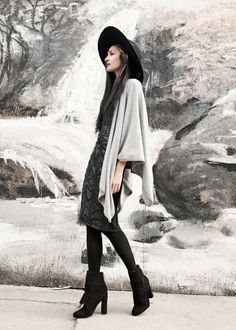 @froufrouu wearing a cashmere poncho wrap by Artelier Nicole Miller. #NMwarrior